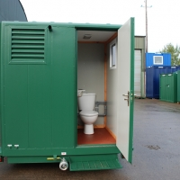 Towable toilet interior