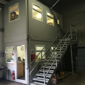 Double stacked Warehouse office