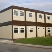 Steel framed Double stacked modular building